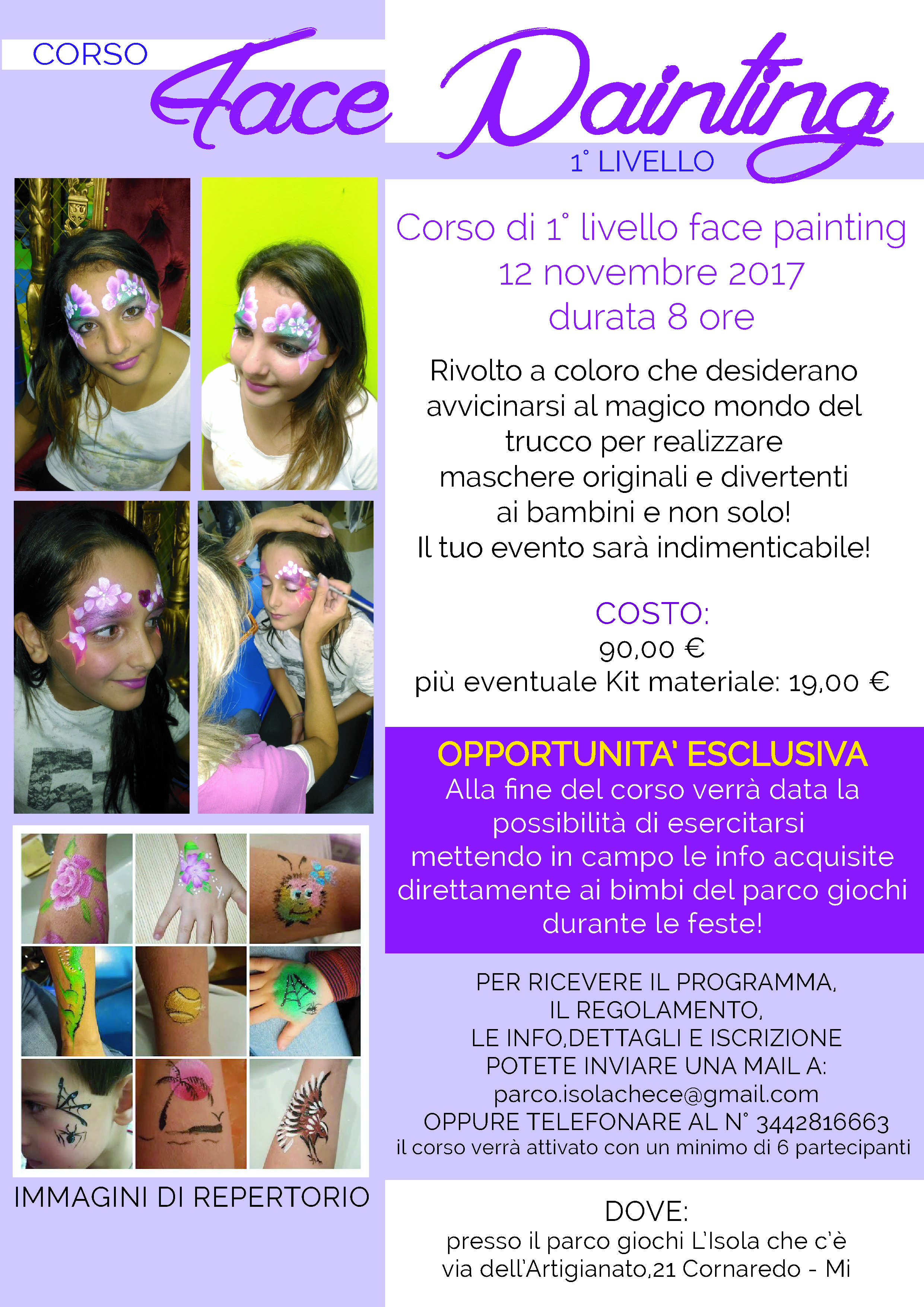 face painting 1� livello
